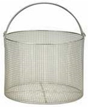 "Picture of Basket for HV-25, SS, 8.3""D, 17.5""H for Hirayama sterilizer"
