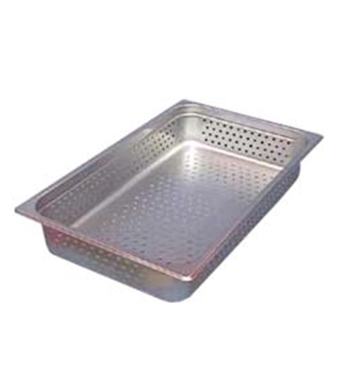 "Picture of Market Forge 12"" x 20"" x 4"" Perforated Tray (Holds (2) 4"" & (1) 2-1/2"")"